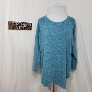 Lace Print Sweatshirt